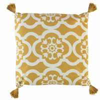 Linens And Lace Tassel Moroccan Cushion Ochre Домашни стоки