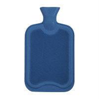 Linens And Lace Шише За Вода Stanford Home Ribbed Rubber Hot Water Bottle Cornflower Зимни аксесоари