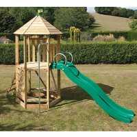 Tp Toys Castlewood Tower And Crazywavy Slide Set Wood Подаръци и играчки