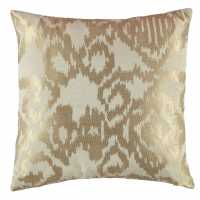 Linens And Lace Jacquard Cushion Gold Домашни стоки