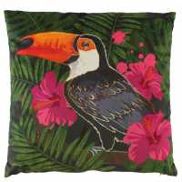 Linens And Lace Toucan Cushion Black Домашни стоки