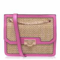 Mega Value Store Dune London Woven Bag Fuchsia Дамски чанти