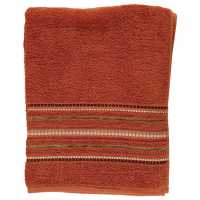 Linens And Lace Border Stitch Towel Country Lodge Хавлиени кърпи