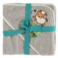 Linens And Lace Baby Applque Towel 09 Grey Sheep Хавлиени кърпи