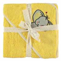 Linens And Lace Baby Applque Towel 09 Lemon Elephant Хавлиени кърпи