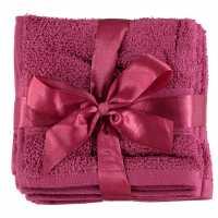 Linens And Lace Plain Dye Towels Mul Pink Хавлиени кърпи