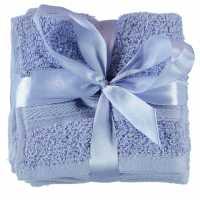 Linens And Lace Plain Dye Towels AW17 Dusty Blue Хавлиени кърпи