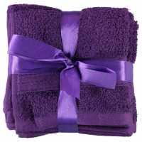 Linens And Lace Plain Dye Towels AW17 Plum Хавлиени кърпи