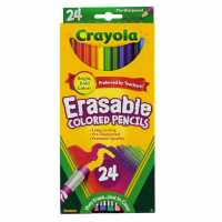Crayola Erasable Coloured Pencils Pack Of 24 - Канцеларски материали
