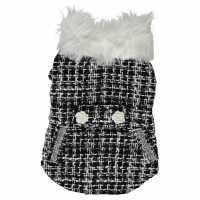 Pet Brands Check Coat Black/White Подаръци и играчки