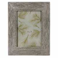 Stanford Home Embossed Metal Frame92 Silver Домашни стоки