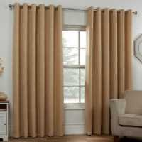 Linens And Lace Boucle Curtain 92 Ochre Домашни стоки