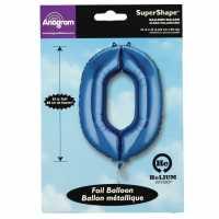 Super Shape 0 Foil Balloon Blue Подаръци и играчки