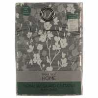 Linens And Lace Floral Jacq Curtain 92 Grey Домашни стоки