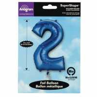 Super Shape 2 Foil Balloon Blue Подаръци и играчки