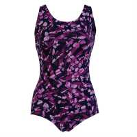 Dolfin Lap Suit Swimsuit Ladies Chelsea Magenta Дамски бански