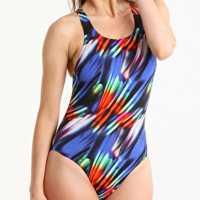 Maru Womens Sienna Tek Back Swimsuit Blue Дамски бански