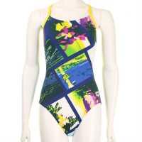 Arena Дамски Бански Костюм Tropic One Swimsuit Ladies Rebel Blue/Prim Дамски бански