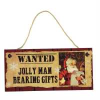 Stanford Home Hanging Sign Santa Wanted Подаръци и играчки