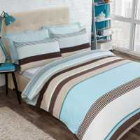 Mega Value Store Value Home Striped Duvet Cover Set BEIGE SPR Домашни стоки