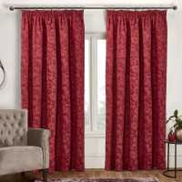 Mega Value Store Linens And Lace Jacquard Curtains Burgundy Домашни стоки