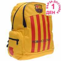 Fc Barcelona Раница С Джоб 2 Pocket Backpack - Ученически раници