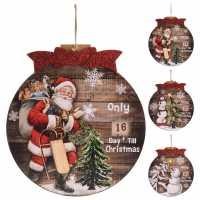 Mega Value Store The Spirit Of Christmas Countdown Sign 94  Коледна украса