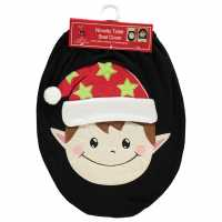 Linens And Lace The Spirit Of Christmas Novelty Santa Toilet Seat Cover Elf Домашни стоки