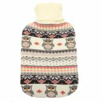 Stanford Home Шише За Вода The Spirit Of Christmas Fair Isle Knitted Hot Water Bottle Owl Зимни аксесоари
