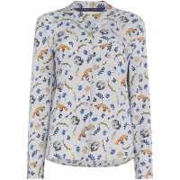 Maison De Nimes Горнище С Дълъг Ръкав Autumn Aop Woven Long Sleeve Top Grey Дамски пижами
