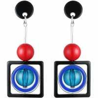 Jewellery Network Ball And Square Drop Earrings Multi-Coloured Подаръци и играчки