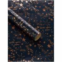 Unknown Navy And Rose Gold Stars 3M Wrapping Paper N/A