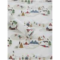 Unknown Snow Village Glitter 2M Wrapping Paper N/A