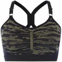 Label Lab Camo Sports Bra Khaki Дамски дрехи за бягане