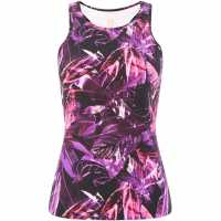 Biba Magenta Dark Jungle Sports Vest Pink Дамски потници
