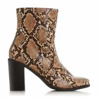 Omm Stacked Block Heel Boots Natural Дамски туристически обувки