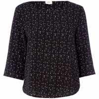 Jdy Piper Floral Print Top Black Дамски ризи и тениски
