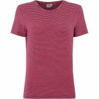 Vero Moda Striped T-Shirt Pink Дамски ризи и тениски