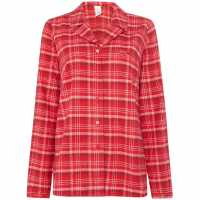 Calvin Klein Michael Plaid Long Sleeved Pyjama Top Red Дамски пижами