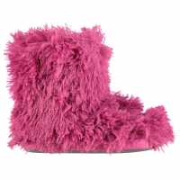 Therapy London Monster Slipper Boot Pink Чехли