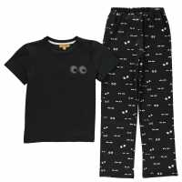 Rock And Wilde Nw Eyes Print Pj Set Black Детски пижами
